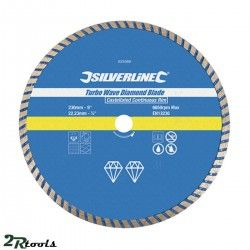 Disco de corte diamantado TURBO WAVE 230 mm