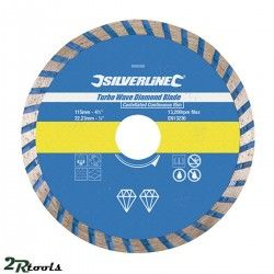 Disco de corte diamantado TURBO WAVE 115 mm
